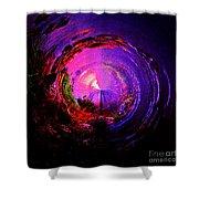 Space Spiral Shower Curtain