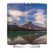Space Station Passing West To East Shower Curtain