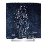 Space Suit Patent Illustration Shower Curtain