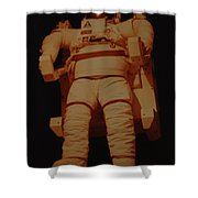 Space Suit Shower Curtain
