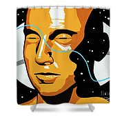 Space Time Shower Curtain
