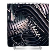 Space Time Location Shower Curtain