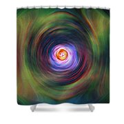 Space Time Sequence Shower Curtain