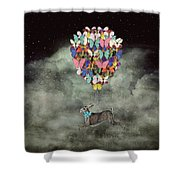 Space Travel Shower Curtain