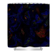 Space Tribal  Shower Curtain