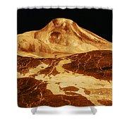 Space: Venus, 1991 Shower Curtain