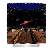 Space Voyagers Shower Curtain