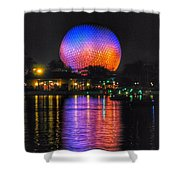 Spaceship Earth Reflection Shower Curtain