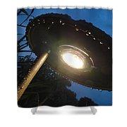 Spaceship Landscape Light Shower Curtain