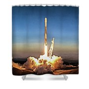 Spacex Iridium-5 Mission Falcon 9 Rocket Launch Shower Curtain