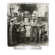 Spaghetti Vendor, C1908 Shower Curtain