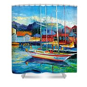Spain Boats Shower Curtain
