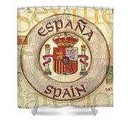 Spain Coat Of Arms Shower Curtain by Debbie DeWitt