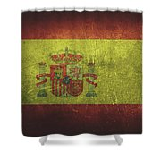 Spain Distressed Flag Dehner Shower Curtain