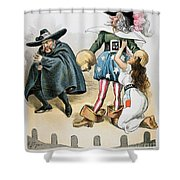 Spanish-american War, 1896 Shower Curtain