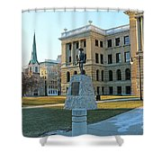 Spanish American War Memorial At Lucas County Courthouse 0098 Shower Curtain