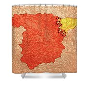Spanish And Catalonia Tattoo With Stitches Shower Curtain