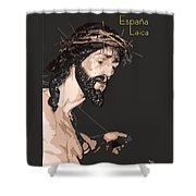 Spanish Christ Shower Curtain