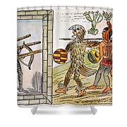 Spanish Conquest, 1520 Shower Curtain