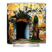 Spanish Fort Doorway Shower Curtain