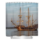 Spanish Galleon Shower Curtain