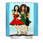 Spanish Girls Shower Curtain