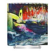 Spanish Harbour 01 Shower Curtain