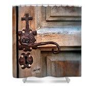 Spanish Mission Door Handle Shower Curtain by Jill Battaglia