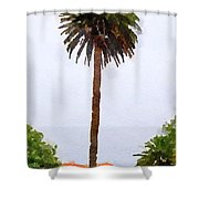 Spanish Palm Tree Shower Curtain