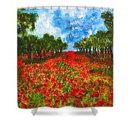 Spanish Poppies Shower Curtain