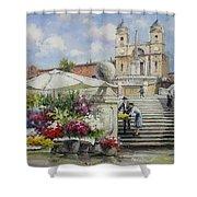 Spanish Steps, Rome Shower Curtain