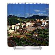 Spanish Terraces Shower Curtain