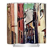 Spanish Town Shower Curtain