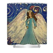 Sparkle Angel Shower Curtain