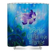 Sparkle, Little One Shower Curtain