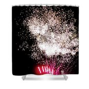 Sparkles Fireworks Shower Curtain