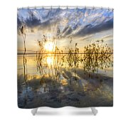Sparkley Waters Shower Curtain