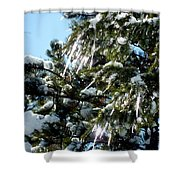 Sparkling Icicles  Shower Curtain