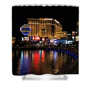Sparkling Las Vegas Neon - Planet Hollywood Shower Curtain