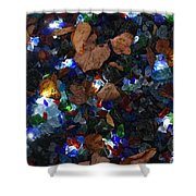 Sparkling Leaves Shower Curtain