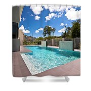 Sparkling New Pool Shower Curtain