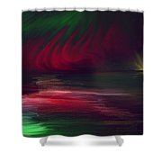 Sparkling Night Of The Aurora Borealis Shower Curtain