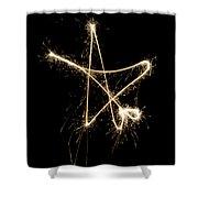 Sparkling Star Shower Curtain