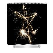 Sparkling Star II Shower Curtain