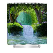Sparkling Waterfall Shower Curtain