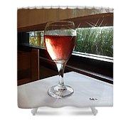 Sparkling Wine Shower Curtain