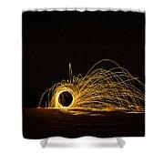 Sparks 2 Shower Curtain