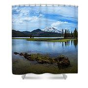 Sparks Lake, Oregon Shower Curtain