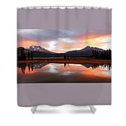Sparks Lake Sunrise Shower Curtain