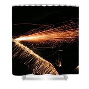 Sparks Will Fly Shower Curtain by Kristin Elmquist
